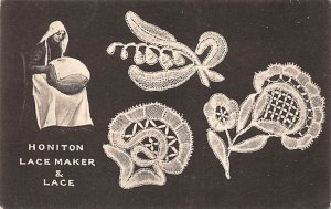 Honiton lace maker and lace Knitting & Sewing Postal Used Unknown