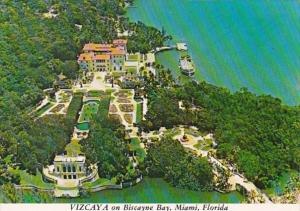 Florida Miami Vizcaya On Biscayne Bay Aerial View