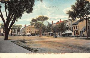 Westfield Massachusetts Centre Street Scene Antique Postcard K27200