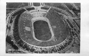 Airview 1930s Coliseum Los Angeles California  RPPC Photo Postcard 3348