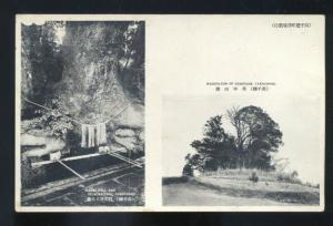 ZELKOVA TREE YAKACHIHO JAPAN MANAI WELL GOHEISIAN MAUSOLEUM OLD POSTCARD