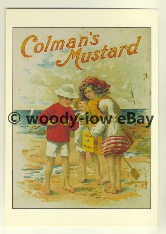 ad3403 -  Colmans Mustard - Children Playing on Beach -  Modern Advert Postcards