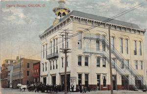 F9/ Galion Ohio Postcard 1910 Opera House Building