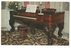KY Bardstown Stephen Foster Piano My Old Kentucky Home Vtg Postcard
