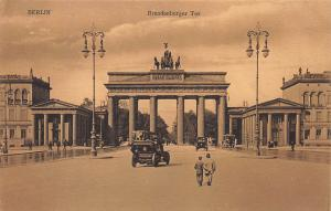 Brandenburg Gate, Berlin, Germany, Early Postcard, Unused