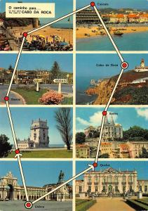 Portugal Cabo da Roca Belem Cabo da Roca Cascais Sintra Lisboa Queluz Postcard