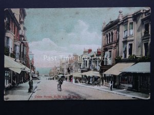 Isle of Wight RYDE Union Street c1905 Postcard by Mitch & Stock 504/2