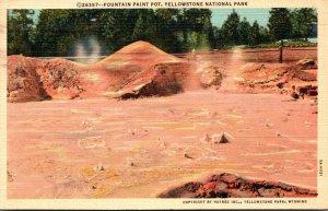 Yellowstone National Park Fountain Paint Pot 1941 Curteich