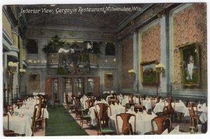Milwaukee, Wis., Interior View, Gargoyle Restaurant