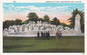 Illinois Chicago Fountain Of Time Washington Park