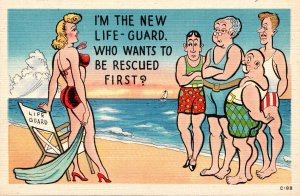 Humour Sexy Girl I'm The New Life Guard