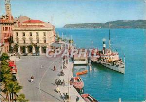 Postcard Modern Salo Lake Garda Boat