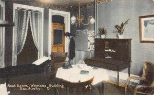 LPS81 SANDUSKY Ohio Womans Building Resting Room Postcard