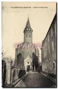 Villeneuve de Marsan Postcard Ancient Church St Hippolyte