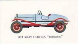 Mobil Oil Vintage Trade Card Vintage Cards No 3 Riley 11-40 H P Redwing 1923
