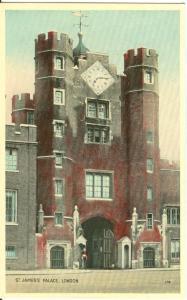 London, St. James's Palace, 1920s-1930s unused Postcard