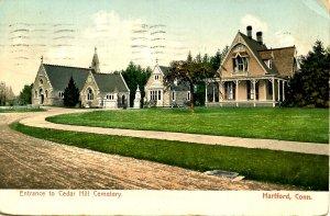 CT - Hartford. Cedar Hill Cemetery Entrance