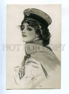 199072 Maid at Arms by Harrison FISHER old PHOTO RUSSIA RARE