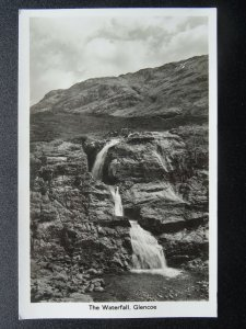 Scotland GLENCOE The Waterfall - Old RP Postcard