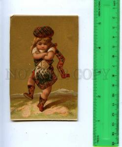 188992 FAIRY girl in Scottish clothing Vintage card