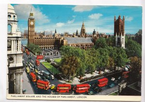 Parliament Square and the Houses of Parliament, London, 1974 used Postcard