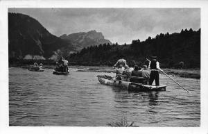 Poland SPlyw po Dunajcu River Boats Postcard
