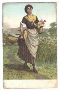 An Irish Milkmaid, Ireland, PU-1907