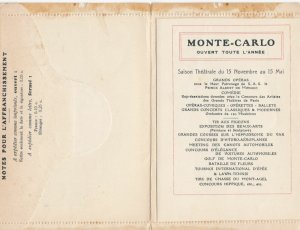 MONTE-CARLO , 1890s ; Novelty Booklet Postcard