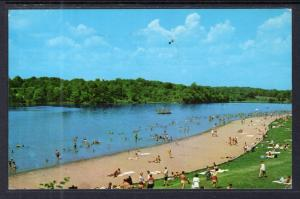Bathing Beach and Lake,Whitewater State Park,IN BIN