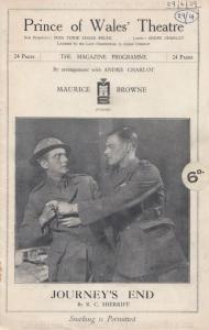 Journeys End WW1 Military British German Soldier Comedy Theatre Programme