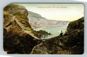 View Of Carrick-A-Rede, The Rope Bridge Ireland, Postcard