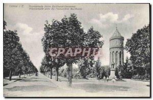 Old Postcard Colmar I E Promenade Monument near Bartholdi