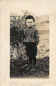 F25/ LaGrande Oregon RPPC Postcard 1910 Well-Dressed Boy