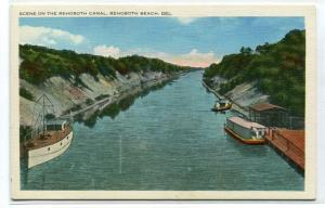 Rehoboth Canal Boats Rehoboth Beach Delaware postcard