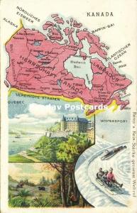 Canada Labrador MAP Postcard (1910s) Remy Paste Edition
