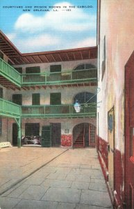 Postcard Courtyard and Prison Room in the Cabildo New Orleans Louisiana