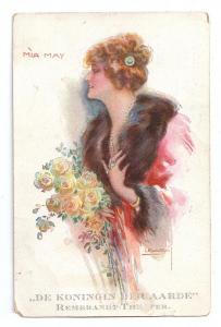 Beautiful Woman Mia May Actress 1920 USABAL R&K