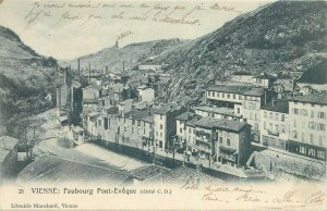 cpa vienne faubourg pont-eveque