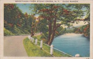New York Greetings From Stony Creek Dude Ranch 1944