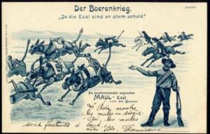 BOER WAR, Caricature, The (English) Donkeys should be Blamed for All (1899) (2)