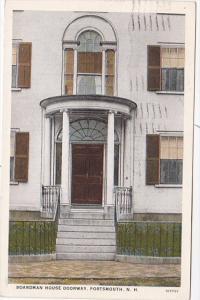 New Hampshire Portsmouth Boardman House Doorway 1928 Curteich