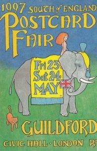 GUILDFORD , England , 1997 Postcard Fair ; Elephant