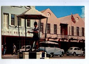 206407 BERMUDA Hamilton policeman Vintage photo postcard