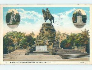 W-Border VARIOUS MONUMENTS AND FAIRMOUNT PARK Philadelphia Pennsylvania PA F2770