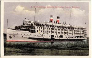 Old SS RICHELIEU Canada Steamship Lines Limited Boat Ship Postcard