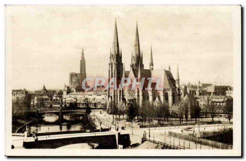 Postcard Old St. Paul Church in Strasbourg