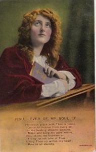 Bamforth Woman Praying Jesu My Lord No 3