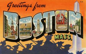 Large Letter - Boston, Massachusetts