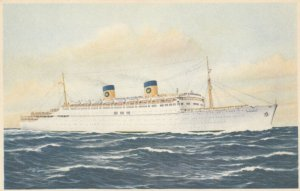 Ocean Liner S/S HOMERIC , 1930s
