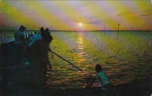 New Jersey Barnegat Bay Crabbing At Sunset 1962